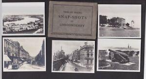 Ireland LONDONDERRY DERRY x12 c1920s? Snapshots photos 90x70mm + packet
