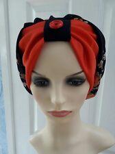 Mrs Sabiha flower print Summar hat turban hijab Chemo one size..