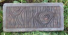 Concrete mold simple log bench top casting garden mould