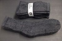 4 Pair's Men/Women 10-13 BLACK GRAY  Long Crew Socks,Cotton Athletic Socks