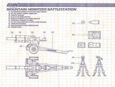 1984 GI/G.I. Joe MOUNTAIN HOWITZER #2 original BLUEPRINTS instructions Cobra JTC