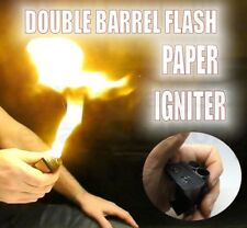 DOUBLE BARREL FLASH PAPER IGNITER MAGIC TRICK UTILITY FIRE WOOL FLAME NEW APPEAR