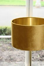 Lampshade, Golden Ochre (Mustard) Velvet with Brushed Gold or contrast Lining