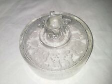 Bridal Bouquet Etched Cheese Dome Cover Only USA Vintag Paden City Pattern Spire