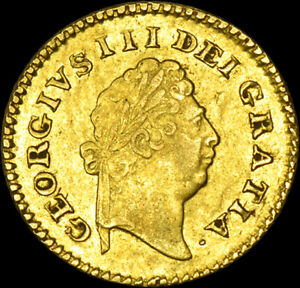 RARE KING GEORGE THE III 1799 THIRD GOLD GUINEA... About UNC...