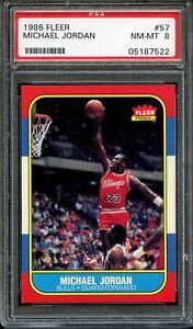 1986 Fleer #57 Michael Jordan RC PSA 8 Pack Fresh & Razor Sharp Chicago Bulls