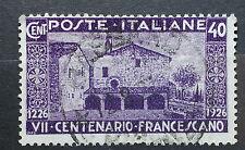 1926  Regno D' Italia 40 centesimi  VII Centenario Francescano