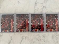 1995/96 Michael Jordan NBA Hoops 4 card Lot Invest!!! #21