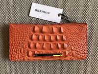 Brahmin ADY POPPY Coral Bi-Fold Genuine Leather Wallet~Gorgeous NWT & HTF!