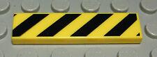 Lego Fliese - Kachel 1x4 mit Dekor Gelb Schwarz                          (927 #)