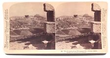 Vtg 1897 STERIOVIEW Card by H. M. Stephens (The Acropolis Athens Greece)