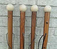 LARGE WOODEN WALKING STICKS CANE SOLID THICK CHESTNUT WOOD FARMERS WALKING STICK