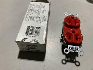 1x Legrand 8300-HRED Duplex Receptacle Compact Hospital Red 20A 125V, NOS