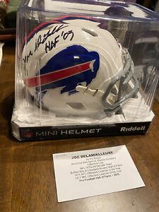 JOE DELAMIELLEURE Hall Of Fame Autographed Mini Helmet BUFFALO BILLS