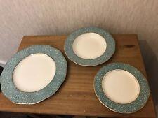 Vintage Wedgwood Green `GARDEN` Dinner Bowl Side Plate Set