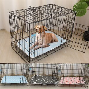 Pet Puppy Training Pad Potty Liner Washable Dog Cage Pee Mat Crate Cushion Bed