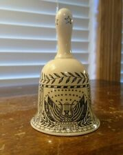 Wedgwood Creamware Scrimshaw Table Bell Wedgwood Collector's Society Excellent