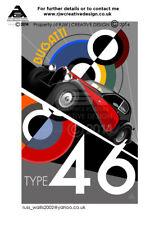 Bugatti Type 46 Poster Illustration