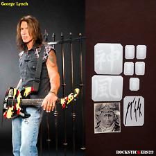 George Lynch guitar stickers ESP GL-200K Kamikaze decal Dokken + vinyl autograph