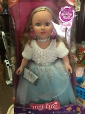 """2017 MY LIFE AS WINTER PRINCESS HOLIDAY 18"""" DOLL BLONDE HAIR BRAND NEW"""