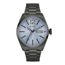 Guess Herrenuhr Multifunktion Edelstahl grau Armbanduhr Herren
