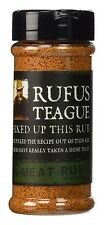 Rufus Teagus Meat Chicken Seafood Vegetable Dry Rub 6.5oz Jar Spice Grill Season