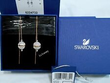 Swarovski Foam Pierced Earrings ROSE GOLD-PLATED Crystal Authentic 5224732