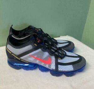 Men Nike Air Vapormax 2019 Black Hyper Blue Crimson AR6631-008 Running Size 10