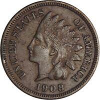 "1908-S 1C Indian Head Cent ""San Francisco Mint""  XF Details   (050221319)"