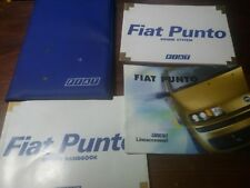 Fiat Punto 1999 Owner's Manual Book Pack Folder