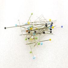 900+ Pcs Quilters Pins Tailor Fashion Design 1 1/4 Long Color Glass Head