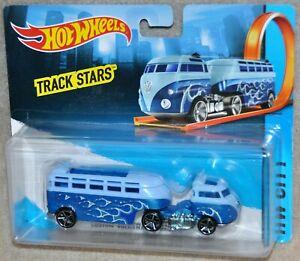 Hotwheels HW City Track Stars CUSTOM Volkswagen Hauler Truck Blue