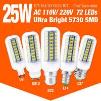 Ultra Bright LED Corn Bulb Lamps Cool White 220V E27/B22/E14/G9/GU10 25W Lights