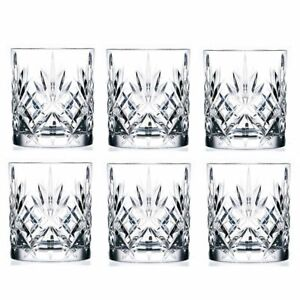 NEW RCR MELODIA CRYSTAL LIQUOR GLASSES 310ml Lead Free Alcohol Scotch Whisky