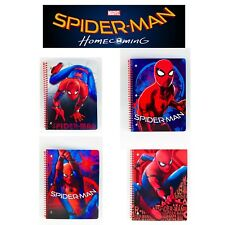 NEW Marvel Spider-Man Homecoming 4 Varieties 1 Subject Notebook Wide Ruled
