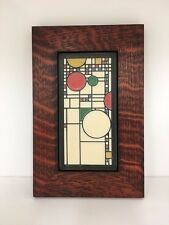 Motawi Coonley Playhouse Tile in a Family Woodworks Oak Park Arts & Crafts Frame