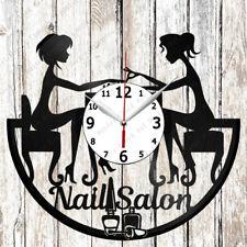 Nail Salon Vinyl Wall Clock Made of Vinyl Record Original gift 2396