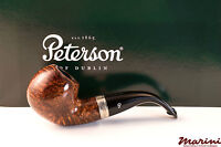 PFEIFE PIPES PIPE PETERSON OF DUBLIN WICKLOW XL02 CURVA RADICA ORIGINALE SILVER