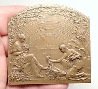 1913 BELGIUM GHENT WORLD's FAIR International Exposition Medal Plaque i75105