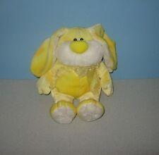 "12"" Fuzzy Yellow Sherbert Splash Floppy Bunny Rabbit Bean Stuffed Plush"
