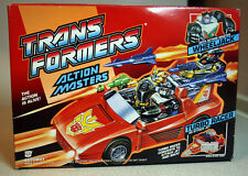 TRANSFORMERS G1 1989 RARE ACTION MASTERS WHEELJACK TURBO RACER + CATALOG NEW MIB