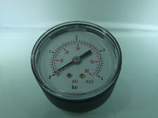 Air Manomètre Entrée Arrière 1/8 BSP Cadran 40mm 0-60psi - bar max