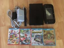 Nintendo Wii U Deluxe 32GB Black Console with four games