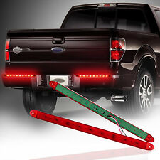 "Pair Red 17"" Waterproof Submersible LED Light Bar Stop Turn Tail Brake Light"