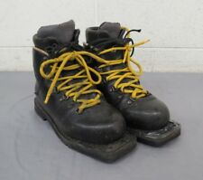 Asolo Summit Classic Padded Black Leather 3-Pin Cross Country Boots US 5.5 EU 38