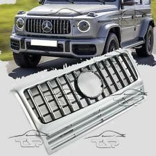 FRONT SILVER GRILL FOR MERCEDES G-CLASS W463 90-14 LOOK AMG PANAMERICANA 463046