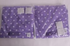 set/2 NWT Pottery Barn PB Teen Dottie hand towels, purple polka dot