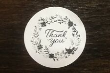 "200 THANK YOU Flower Ring ! STICKERS ENVELOPE/PACKAGE SEALS LABELS 1"" ROUND"