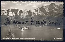 091P  Ansichtskarte   AK    Eibsee  mit  Inseln  gegen  Zugspitze