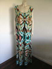 Full Length Sleeveless Green White Dress Size 20 ?